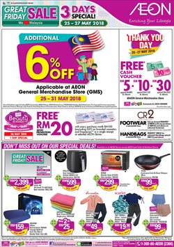 Department Stores offers in the AEON catalogue in Johor Bahru