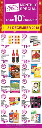 Department Stores offers in the AEON catalogue in Kuala Lumpur