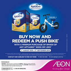 Offers from AEON in the Penang leaflet