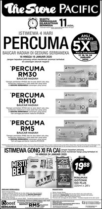 Offers from Pacific Hypermarket in the Kota Bharu leaflet