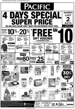 Offers from Pacific Hypermarket in the Johor Bahru leaflet