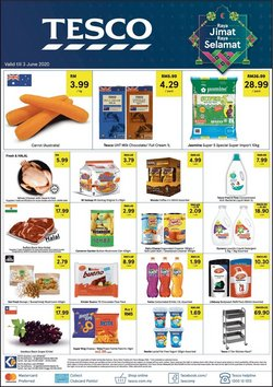 Supermarkets offers in the Tesco catalogue in Kuala Lumpur ( Expires today )