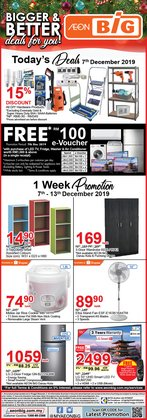 Supermarkets offers in the AEON Big catalogue in Klang
