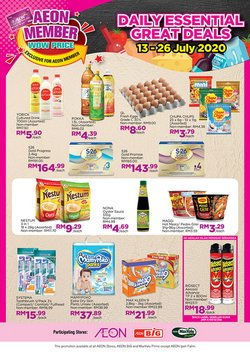 Supermarkets offers in the AEON Big catalogue in Kedah ( 1 day ago )