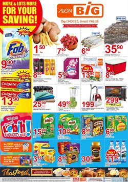 Offers from AEON Big in the Johor Bahru leaflet
