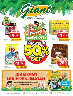 Supermarkets offers in the Giant catalogue in Penang