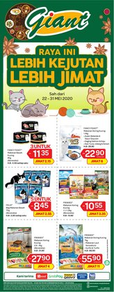 Supermarkets offers in the Giant catalogue in Sunway-Subang Jaya  ( 5 days left )