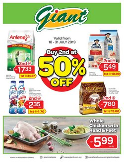 Offers from Giant in the Melaka leaflet