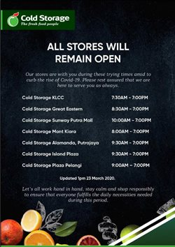 Cold Storage catalogue in Penang ( 2 days left )