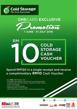 Offers from Cold Storage in the Kuala Lumpur leaflet