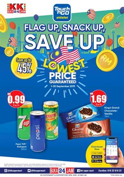 Offers from KK Super Mart in the Johor Bahru leaflet