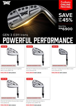 Sport offers in MST Golf catalogue ( 26 days left)