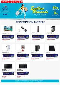 Electronics & Appliances offers in the Senheng catalogue in Sunway-Subang Jaya
