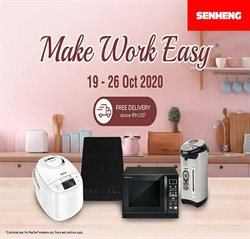 Electronics & Appliances offers in the Senheng catalogue in Johor Bahru ( 2 days ago )