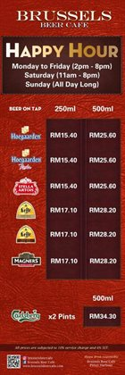 Offers from Brussels Beer Cafe in the Kuala Lumpur leaflet