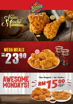 Offers from Texas Chicken in the Kuala Lumpur leaflet
