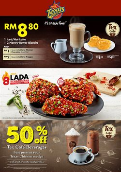 Offers from Texas Chicken in the Johor Bahru leaflet