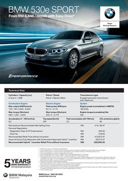 Cars, motorcycles & spares offers in the BMW catalogue in Klang ( More than a month )