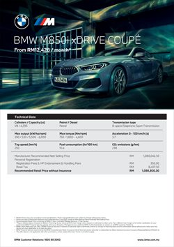 BMW offers in BMW catalogue ( More than a month)