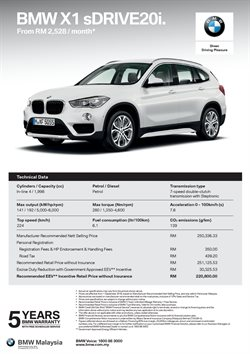 Offers from BMW in the Johor Bahru leaflet