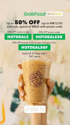 Restaurants offers in The Coffee Bean & Tea Leaf catalogue ( 10 days left)