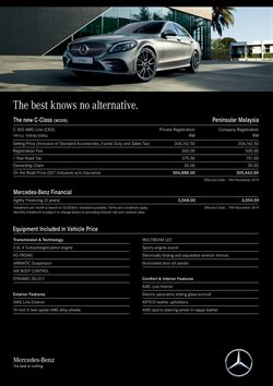 Offers from Mercedes-Benz in the Kuala Lumpur leaflet