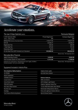 Cars, motorcycles & spares offers in the Mercedes-Benz catalogue in Kuala Lumpur