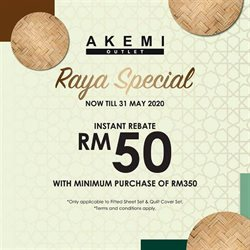Home & Furniture offers in the Akemihome catalogue in Seremban ( 5 days left )