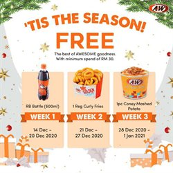 A&W offers in A&W catalogue ( Expired)