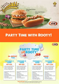 A&W offers in A&W catalogue ( More than a month)