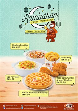 Restaurants offers in the A&W catalogue in Johor Bahru