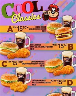 Offers from A&W in the Johor Bahru leaflet