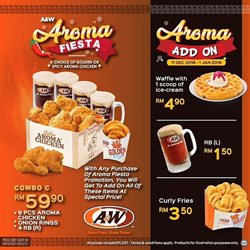 Restaurants offers in the A&W catalogue in Kuala Lumpur