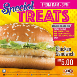 Offers from A&W in the Kuala Lumpur leaflet