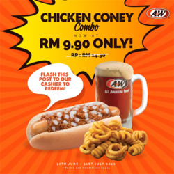 A&W coupon in Johor Bahru ( 17 days left )