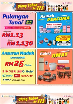 Offers from Singer in the Petaling Jaya leaflet