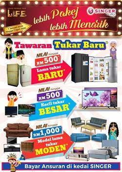 Electronics & Appliances offers in the Singer catalogue in Kota Kinabalu ( 4 days left )