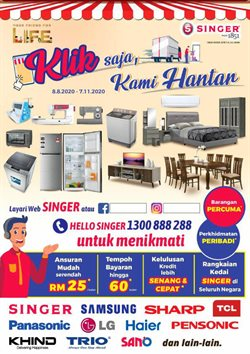 Singer catalogue in Petaling Jaya ( More than a month )