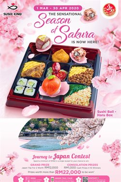 Restaurants offers in the Sushi King catalogue in Melaka ( 23 days left )