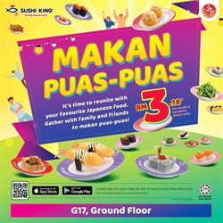 Restaurants offers in the Sushi King catalogue in Johor Bahru ( 3 days left )