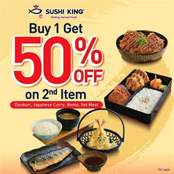 Restaurants offers in the Sushi King catalogue ( 2 days left )