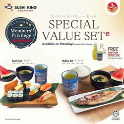 Restaurants offers in the Sushi King catalogue in Ipoh ( 2 days ago )