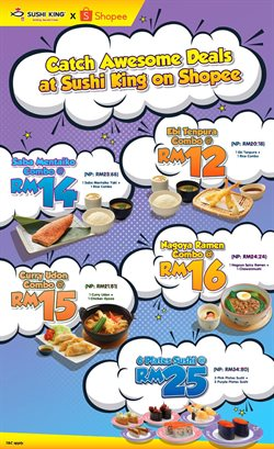 Restaurants offers in the Sushi King catalogue in Johor Bahru ( 1 day ago )