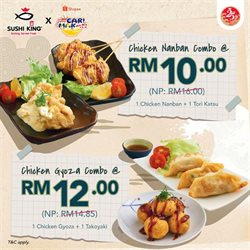 Restaurants offers in the Sushi King catalogue in Melaka ( Expires tomorrow )