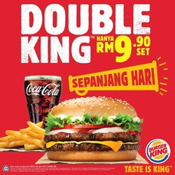 Offers from Burger King in the Johor Bahru leaflet