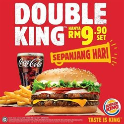 Restaurants offers in the Burger King catalogue in Melaka ( 8 days left )