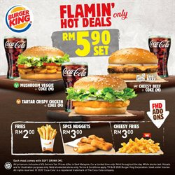 Restaurants offers in the Burger King catalogue in Kuala Lumpur ( 1 day ago )