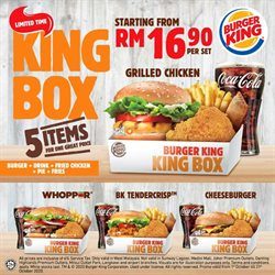 Restaurants offers in Burger King catalogue ( Expires today)