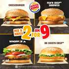 Restaurants offers in the Burger King catalogue in Kuala Lumpur ( 5 days left )