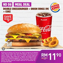 Restaurants offers in Burger King catalogue ( 26 days left)